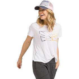 Prana Chez T-Shirt Femme, white sun down